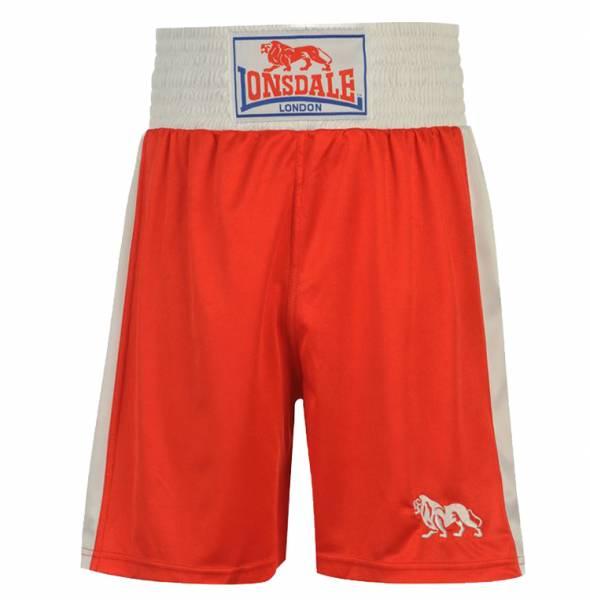 Lonsdale London Hommes Boxer Boxer Pantalon Court rouge