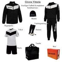 Givova Box Vittoria Fußball Set 8-tlg. schwarz/weiß