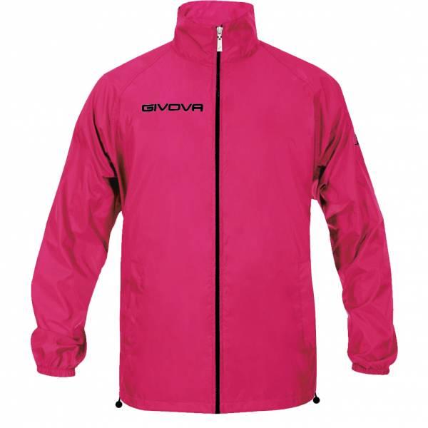 "Givova Rain Jacket ""Rain Basico"" neon pink"