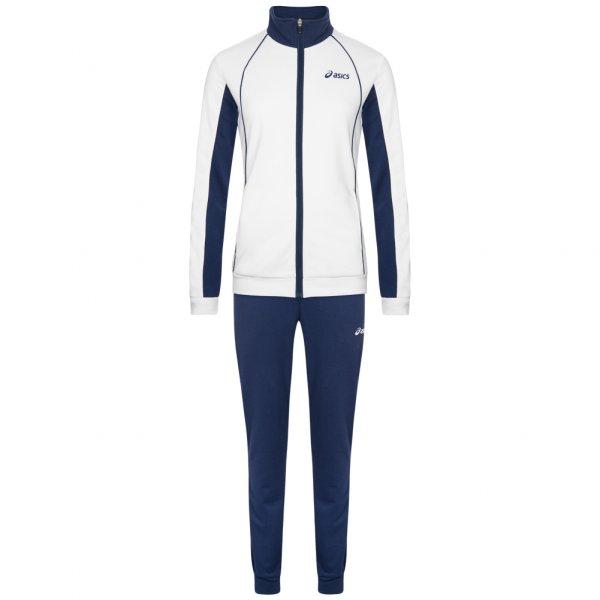 Damen ASICS Solid Woven Damen Trainingsanzug 127709-0001 weiß|08717999706128