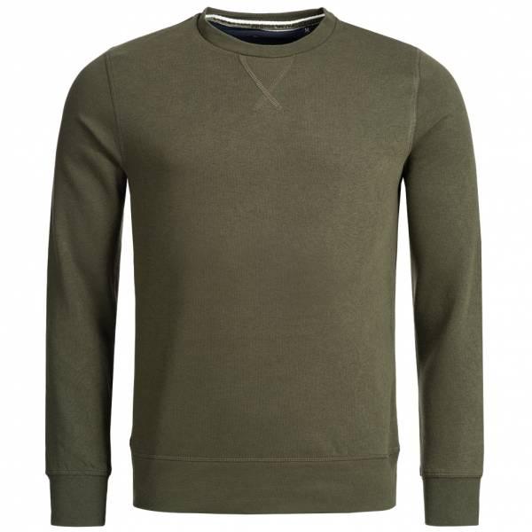 BRAVE SOUL Jones Plain Rib Detail Herren Sweatshirt MSS-69JONESP Mid Khaki