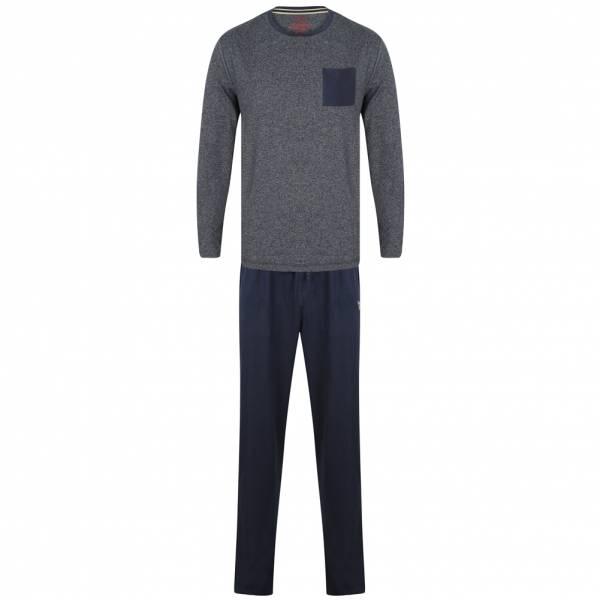 Tokyo Laundry Jeddo Cotton Lounge Set Herren Pyjama Set 1Q9806 Navy