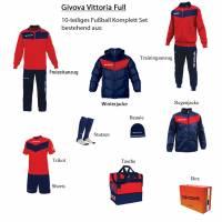 Givova Box Vittoria Full Fußball Set 10-tlg. rot/navy