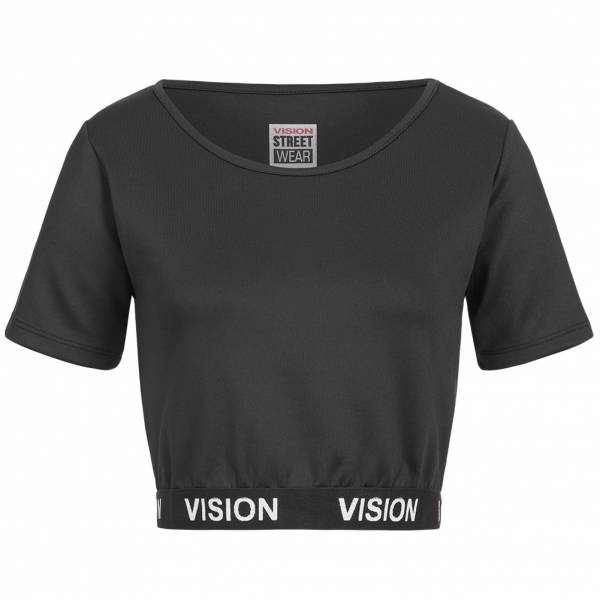 Vision Street Wear Damen Fitness Bodycon Crop Top Shirt RWIV0009