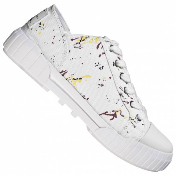 Calvin Klein Jeans Bianca Femmes Canvas Sneakers RE9761WHT