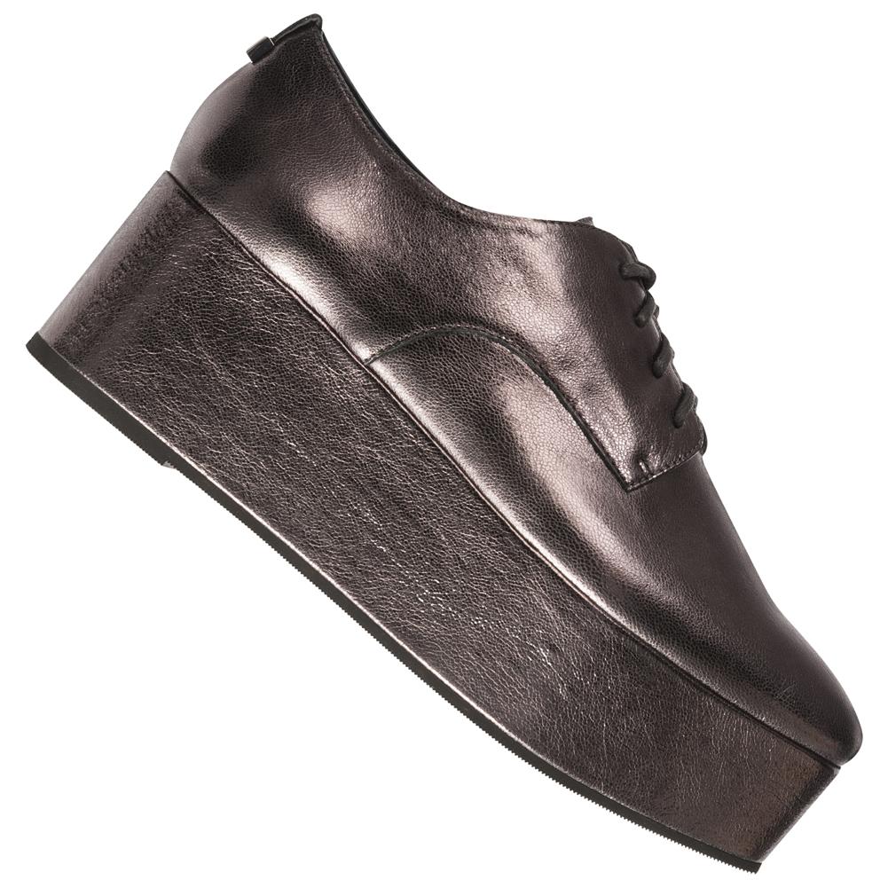 Calvin Klein Platform Oxford Damen Schuhe E5566GUN