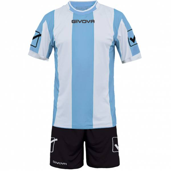 Givova Football Kit Jersey with Shorts Kit Catalano light blue / white