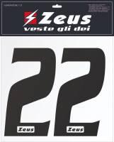 Zeus Nummern-Set 1-22 zum Aufbügeln 25cm Senior schwarz