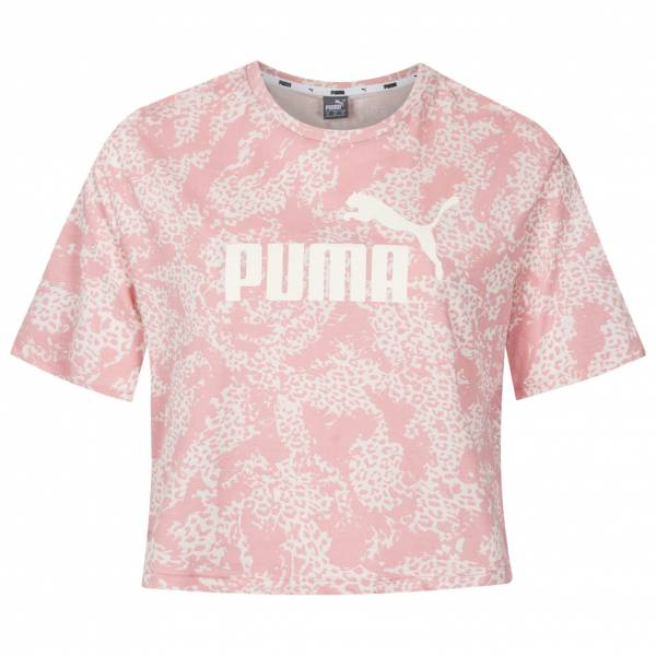 PUMA Elevated Essentials Cropped All Over Print Damen T-Shirt 580392-94