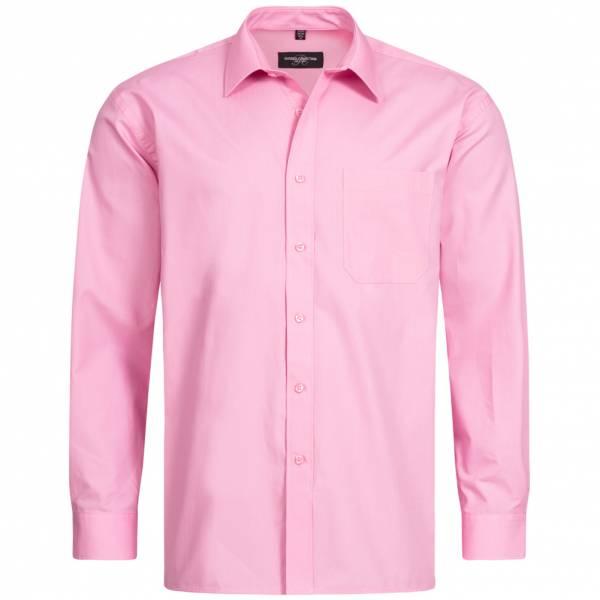 RUSSELL Longsleeve Pure Cotton Poplin Shirt 0R936M0-Bright-Pink