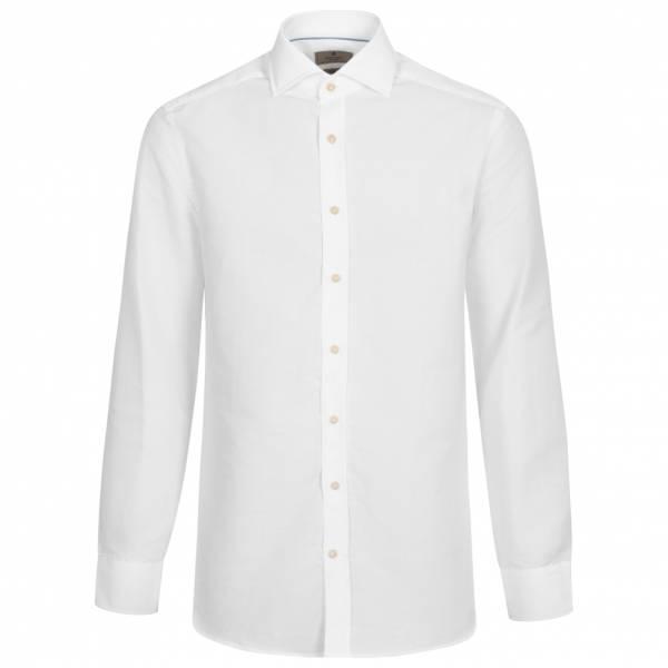 Hackett London Mayfair Plain Lux Herren Leinen Hemd HM307708-800