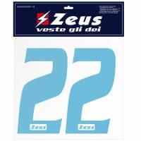 Zeus Nummern-Set 1-22 zum Aufbügeln 25cm Senior sky
