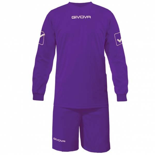 Givova Calcio Set Maglietta a maniche lunghe con Short Kit Givova viola