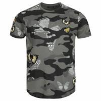 BRAVE ANIMA Canopus Camo Crew Neck T-Shirt da uomo MTS-149CANOPUSB Nero