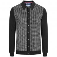 Le Shark Bradman Herren Langarm Cardigan Shirt black MB40114CE
