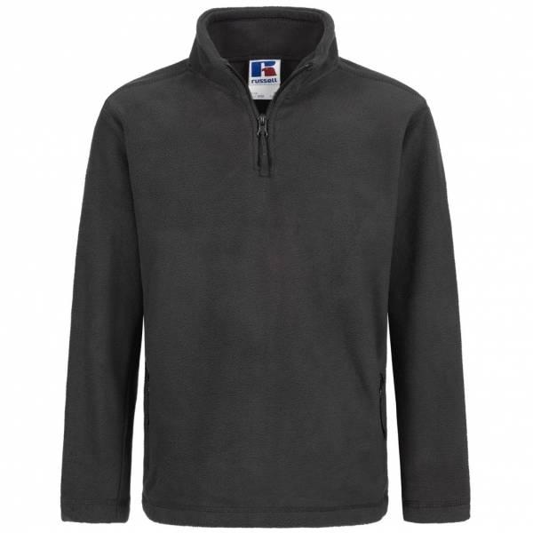 RUSSELL 1/4 Zip Outdoor Fleece Kinder Sweatshirt 0R874B0-Black