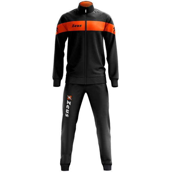 Zeus Tuta Apollo Men Tracksuit Black Neon Orange