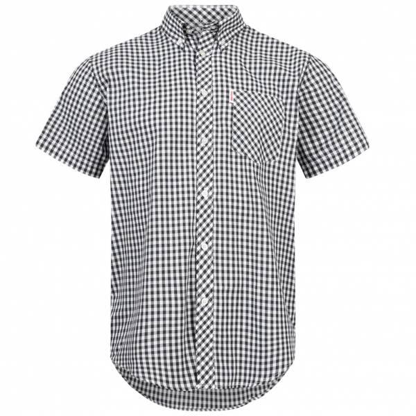 BRUTUS JEANS Short-sleeved Shirt 10003 Navy Gingham