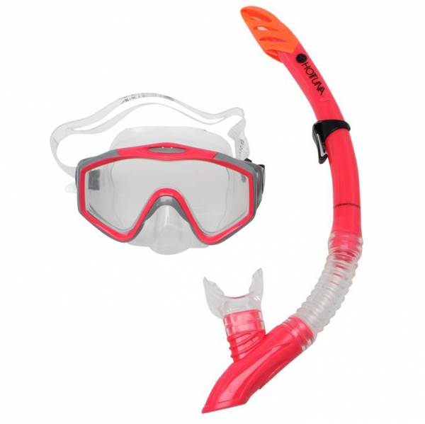 Hot Tuna snorkel set diving set mask + snorkel Unisex pink