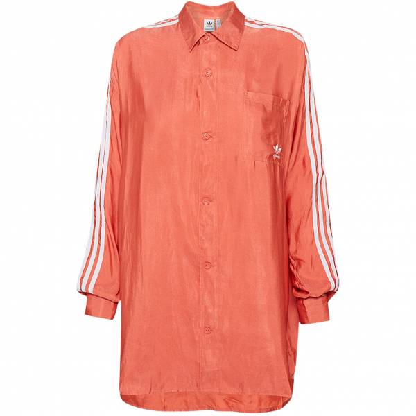 adidas Originals Satin Button Up Damen Hemd FM2634