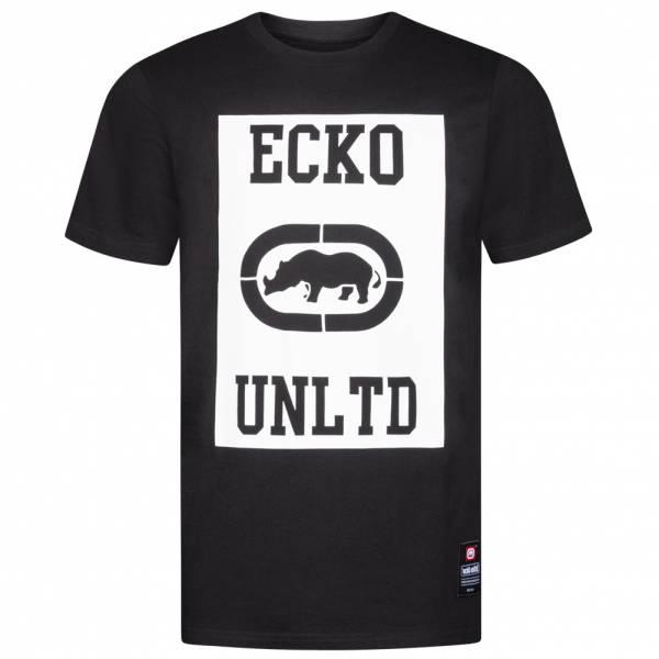 Ecko Unltd. Square Logo Tee Men's T-Shirt ESK4371 Black
