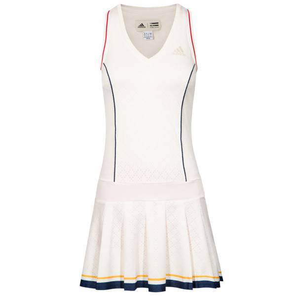 Damen adidas  x Pharrell Williams New York Solid Tennis Dress Tenniskleid BQ9112 weiß | 04058025821496