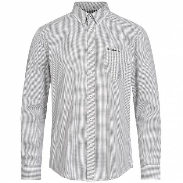 BEN SHERMAN Uomo Camicia a maniche lunghe 0062085-010 Bianco