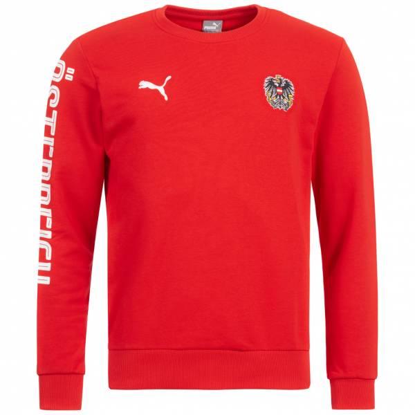 Österreich PUMA Herren Crew Sweatshirt 750558-01