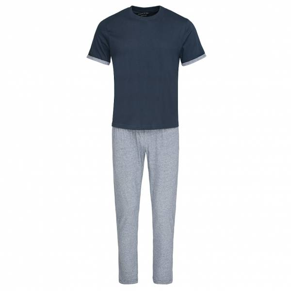 BRAVE SOUL Alvin Cotton Marl Co-Ord Pyjama Schlafanzug MLWS-451ALVINB Navy
