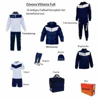 Givova Box Vittoria Full Fußball Set 10-tlg. navy/weiß