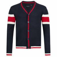 BRAVE SOUL Sullivan Herren Colourblock Cardigan MK-248SULLIVAN FRENCH NAVY