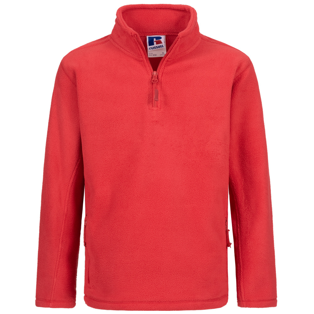 RUSSELL Polaire Extérieure 14 Zip Enfants Sweat shirt 0R874B0 Classic Red