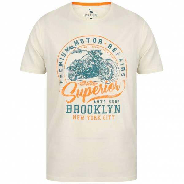 South Shore Auto Shop Herren T-Shirt 1C13274 Snow White