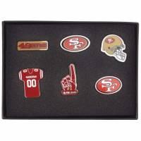 San Francisco 49ers NFL Metall Pin Anstecker 6er-Set BDNFL6SETSF