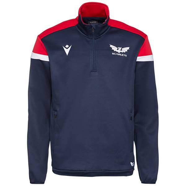 Scarlets macron Herren 1/4-Zip Trainings Sweatshirt 58100590