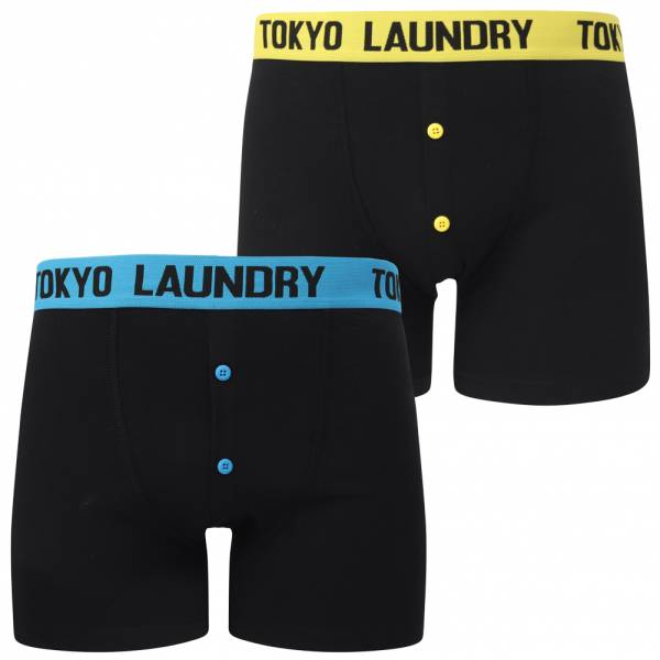 Tokyo Laundry Nelson 2-pack Uomo boxer 1P13377 Burro / Blu