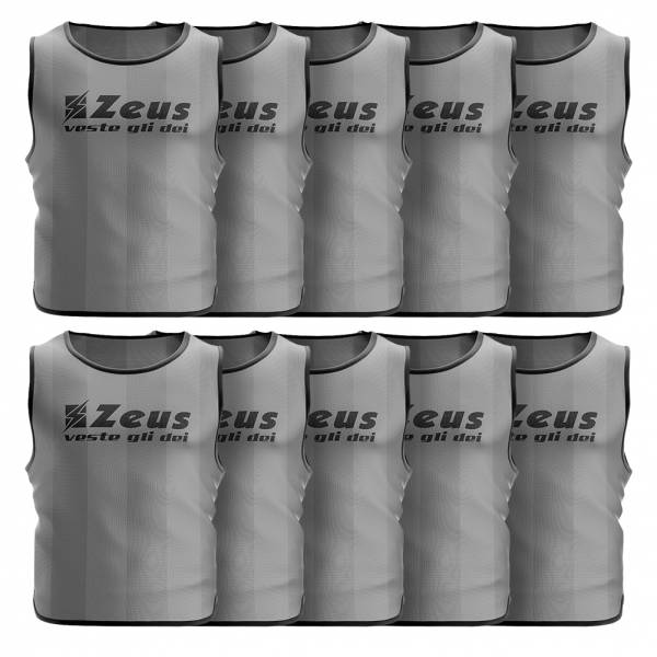 Zeus 10er-Pack Trainingsleibchen Grau