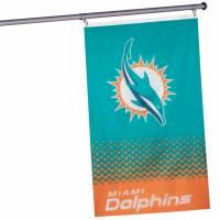 Dolphins de Miami NFL Drapeau horizontal pour supporters 1,52 mx 0,92 m FLG53NFLFADEMD