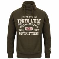 Tokyo Laundry Maplewood Funnel Neck Hoodie Men's Pullover 1D9596 Tokyo Olive