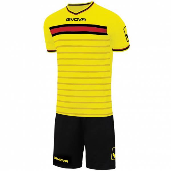 Givova Skill Football Kit Jersey with Shorts yellow / black