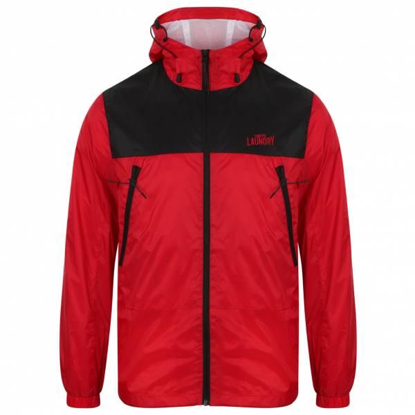 Tokyo Laundry Bourdon Packaway Windbreaker Herren Jacke 1J10630 Firebrick Red