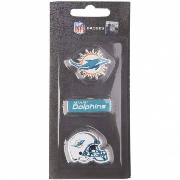 Miami Dolphins NFL Metall Pin Anstecker 3er-Set BDNFL3PKMD