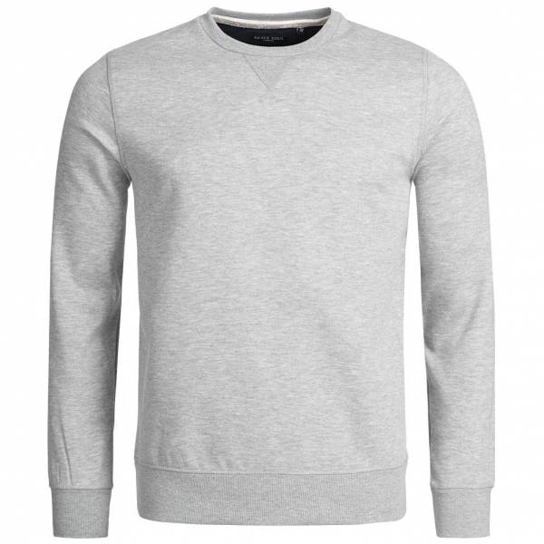 Herren BRAVE SOUL  Jones Plain Rib Detail Herren Sweatshirt MSS-69JONESO Light Grey grau | 05054072214099