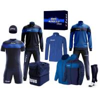 Zeus Apollo Football Kit Teamwear Box 12 pieces Navy blue