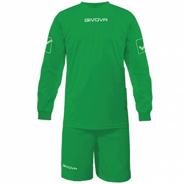 Givova Fußball Set Langarmtrikot mit Short Kit Givova grün