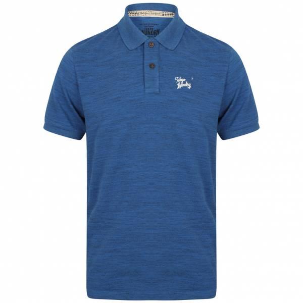 Tokyo Laundry Strasburg Spacedye Pique Herren Polo-Shirt 1X10740 Ocean