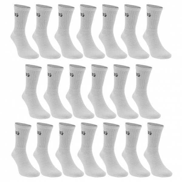 Giorgio Unisex Sport Socken 20-er Pack weiß