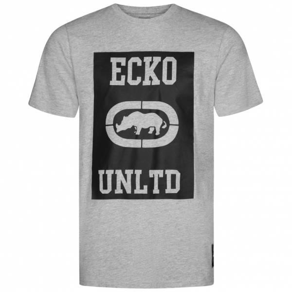 Ecko Unltd. Square Logo Tee Herren T-Shirt ESK4371 Ath Grey Marl