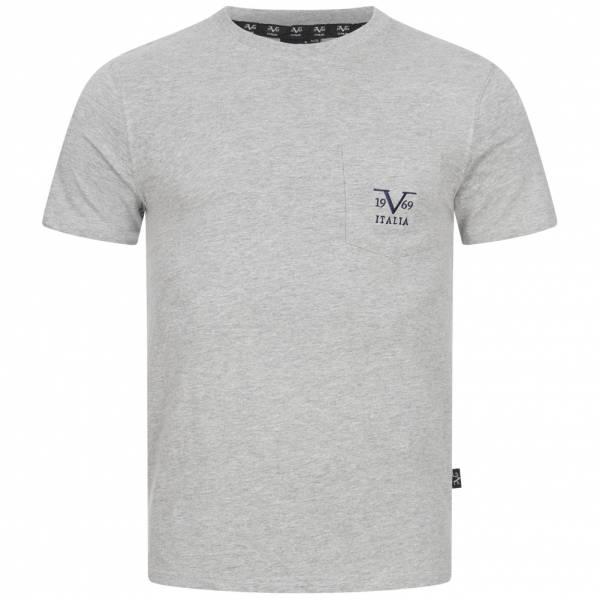 19V69 Versace 1969 Big Logo Herren T-Shirt VI20SS0009A grau