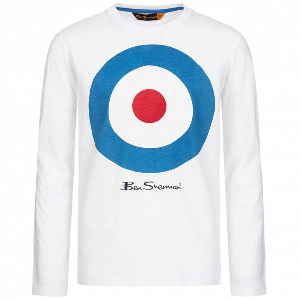 BEN SHERMAN Kids Longsleeve Long-sleeved Top BSH0003S-003 Optic White